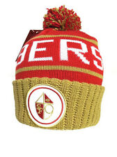 San Francisco 49ers Mitchell and Ness Cuffed Pom Knit Hat Red NWT