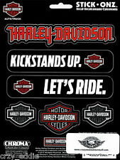 HARLEY DAVIDSON SAYINGS AND BAR & SHILED DECALS * MADE USA * SHEET OF 6 DECALS