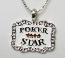GAMBLING Poker Star Glücks Halskette Rockabilly