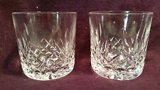 2 WATERFORD OLD FASHION TUMBLERS - LISMORE - 3 1/4""