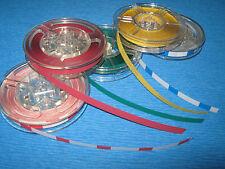 """Vorlaufband,Kennband Set 5 Farben a 25m 1/4"""" 6,3mm Studer,Revox usw"""