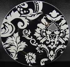 Home Damask Salad Plate Black & White Multiples Available