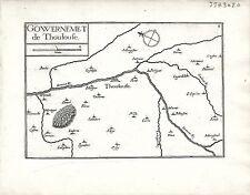 Antico mappe, gouvernement DE thoulouse