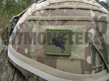 British Army Velcro backed Pegasus Airborne Helmet Patch OG Subdued 16AA 4x4cm