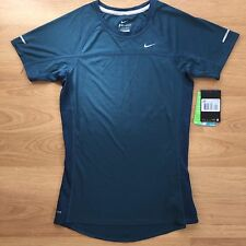 BNWT Women's Nike Dri-Fit Miler Running Gym Short Sleeve T Shirt Teal XS