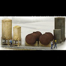 "WALTHERS CORNERSTONE HO SCALE KIT #933-3197: ""INDUSTRIAL STORAGE TANKS"""