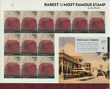Guyana 2014 MNH British Guiana 1c Magenta 12v M/S Rarest Most Famous Stamps