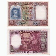 1931 SPAIN - 500 Pesetas Banknote - P84 - EF.