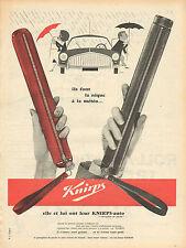 """Publicité Advertising 1960  Parapluie Knirps """"l'anti pluie de poche"""""""