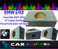 "BMW E93 Convertible Custom Built 12"" Sub Bass Box Enclosure for Subwoofer NEW!!"