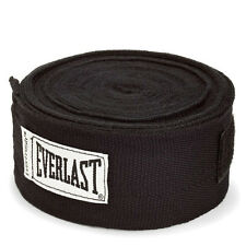 "Everlast Boxing MMA Hand Wrap Bandages Wrist Support - Pair 180"" Long Black"