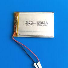 3.7V 650mAh Li Po Rechargeable Battery 303759 F PSP MP3 MP4 Speaker Selfie Stick