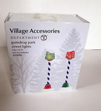 Department 56 Gumdrop Park Street Lights set of 2   dept 4038862    NEW in box