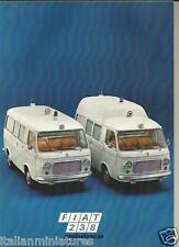 Fiat 238 Ambulance Ambulancia Krankenwagen Autoambulanza Sales Brochure