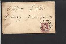 WILMINGTON, NORTH CAROLINA COVER,#11, VF COVER TO NEW JERSEY.