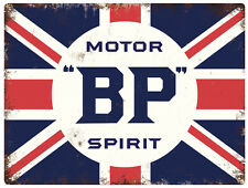 BP Motor Spirit  Tinplate Metal Plaque Wall Art Sign New