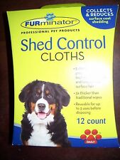 P1  FURminator 12 DOG PET SHED CONTROL CLOTHS TOTAL 12 Daily wipes