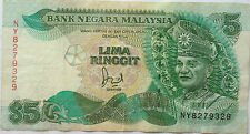RM5 Jaafar Hussein sign Note NY 8279329