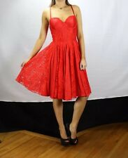 Guess NWT Sexy Red Lace Cleavage Holiday Cocktail Evening Designer Dress SZ 6
