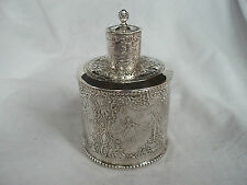 Tea Caddy Victoriano Plata Esterlina Londres 1894 (Import)