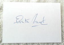 VERY RARE SIR EVERTON WEEKES SIGNED IN PERSON PLAIN INDEX CARD WEST INDIES