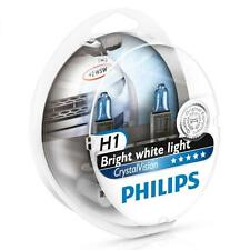 PHILIPS H1 Crystal Vision 4300K Bulbs Genuine 12258CVSM with Parking Lights