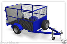 Trailer Plans - CAGE TRAILER PLANS-3 Sizes-7x4ft, 8x5ft & 9x5ft -PLANS ON CD-ROM
