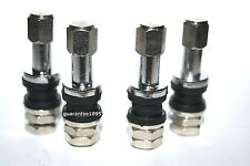 4 NEW CHROME/METAL VALVE STEMS CAP KIT TENZO R TSW TI WHEELS CAR SHOW