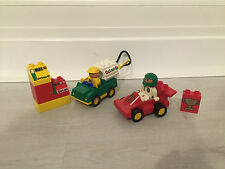 LEGO DUPLO RACER RACING CAR WITH OCTAN TRUCK ENGINEER