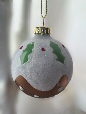 Gisela Graham Christmas Pudding Style Bauble Christmas Tree Decoration