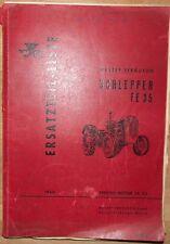 Massey Ferguson Schlepper FE 35 Ersatzteilliste