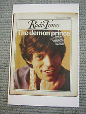 Postcard Vtg Radio Times cover 7-13 April 1973 Mick Jagger The Rolling Stones