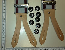 HERKULES  suspenders   Made in Germany   grey / dark red     size MEDIUM / LARGE