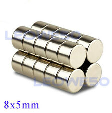 25 X Strong Round Disc Magnet 8mm x 5mm Rare Earth Neodymium No. 1704