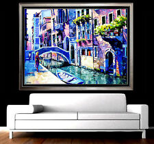 Large 36x48 HOWARD BEHRENS Original OIL ON CANVAS Painting Signed Art Water