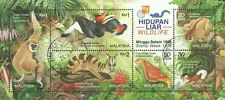 Wildlife 1996 Malaysia Monkey Birds Flora Fauna Butterfly (MS HK Overprint) CTO