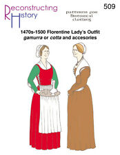 Schnittmuster RH 509 Paper pattern 1470s-1500 Florentine Lady's Outfit gamurra