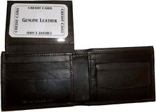 Men's Leather Wallet 6 Card Holder ID, Change purse 2 Billfold Pockets Brand New