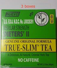 3 BOXES BAMBOO Leaf brand  Regular Strength Dieters' II True-Slim Tea