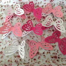 embelishments 30 3D Pinks & Whites Mixed  Butterflies