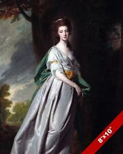 PORTRIAT OF BRITISH NOBLE WOMAN 18TH CENTURY PAINTING ART REAL CANVAS PRINT