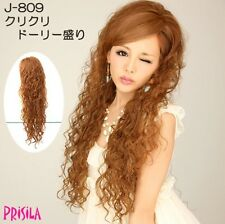 Prisila Wig TNC Half-Cap Long Curly Natural Black/darkest Brown-Japan,gyaru,hime