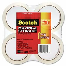 Packing Tape 4 Rolls Scotch Long Lasting Moving Storage New Free Shipping Pack