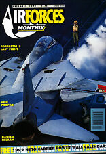 AIRFORCES MONTHLY 45 DEC 1991 IAI Kfir,US Thunderbirds,USS Forrestal,Sentinel