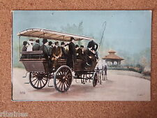R&L Postcard: European Printed Coach and Horses, Edwardian Gentlemen & Ladies