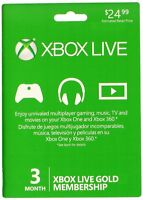 Microsoft Xbox 360 & Xbox One 3 Month Live Card Gold Membership