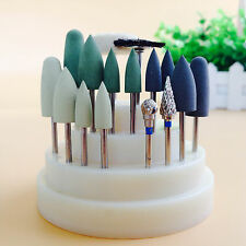 17Pcs Dental Silicone Rubber Rotary Tungsten Polishing Wool Wheel 2.35mm pit