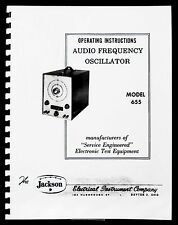 Jackson 655 Audio Frequency Oscillator Operating Manual