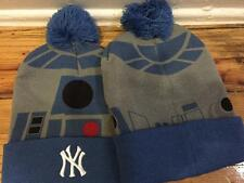STAR WARS R2-D2 KNIT WINTER HAT CAP NY NEW YORK YANKEES  2016 8/5/16 SGA STADIUM