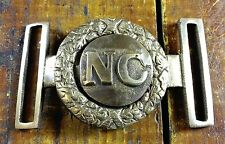 CIVIL WAR STYLE NC NORTH CAROLINA MILITARY REPRODUCTION 2 PC BRASS BELT BUCKLE